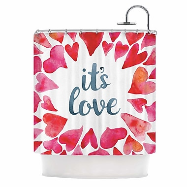 East Urban Home 'It'S Love' Shower Curtain