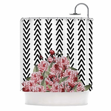 East Urban Home 'Spring Pattern Arrow Pink' Illustration Shower Curtain