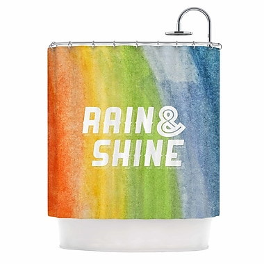East Urban Home 'Rain & Shine' Rainbow Shower Curtain