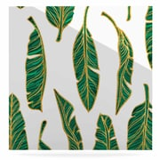East Urban Home Digital 'Banana Leaf Gold' Graphic Art Print on Metal