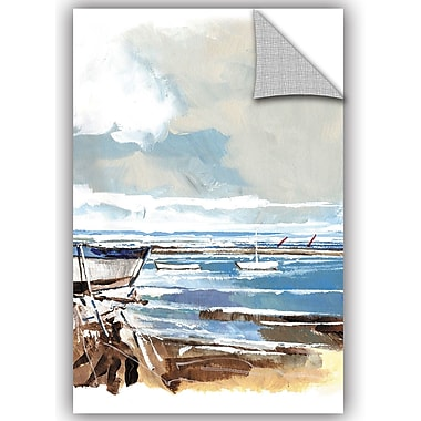 Breakwater Bay Amiyah Boat on Shore I Wall Decal; 18'' H x 12'' W x 0.1'' D