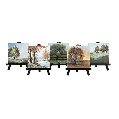 Alcott Hill 'Mini Canvas w/ Easels' 5 Piece Painting Print on Canvas Set