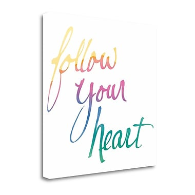 Tangletown Fine Art 'Colorburst II Heart White Sq' by Mike Schick Textual Art on Wrapped Canvas