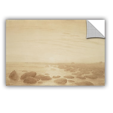 ArtWall Moonrise on the Sea Wall Decal; 16'' H x 24'' W x 0.1'' D