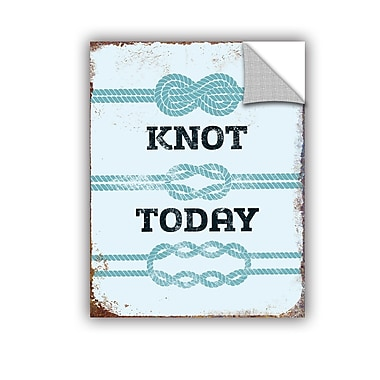ArtWall Knot Today Wall Decal; 24'' H x 18'' W x 0.1'' D
