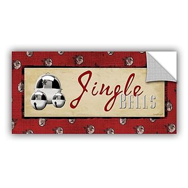 ArtWall Jingle Bells Wall Decal; 24'' H x 48'' W x 0.1'' D