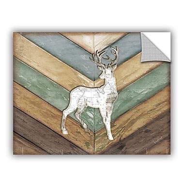 ArtWall Lodge Deer Wall Decal; 36'' H x 48'' W x 0.1'' D