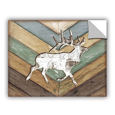 ArtWall Lodge Elk Wall Decal; 18'' H x 24'' W x 0.1'' D