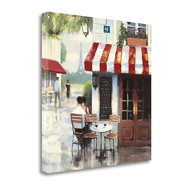 Tangletown Fine Art 'Relaxing at the Cafe II' by James Wiens Painting Print on Wrapped Canvas