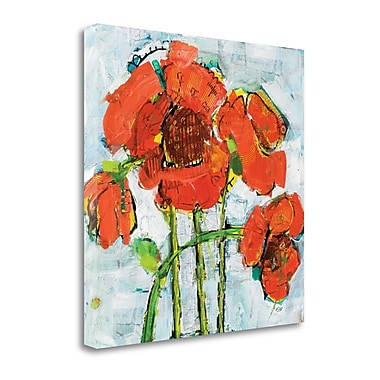Tangletown Fine Art 'Pop Square V.2' by Kellie Day Painting Print on Wrapped Canvas; 25'' H x 25'' W