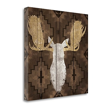 Tangletown Fine Art 'Precious Antlers III' by Wellington Studio Graphic Art on Wrapped Canvas