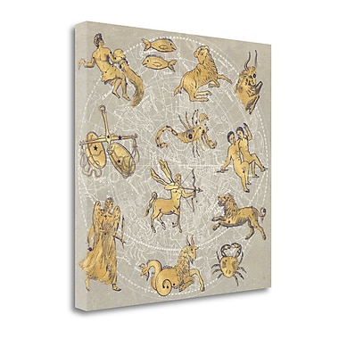 Tangletown Fine Art 'Gilded Zodiac' by Sue Schlabach Graphic Art on Wrapped Canvas; 35'' H x 35'' W