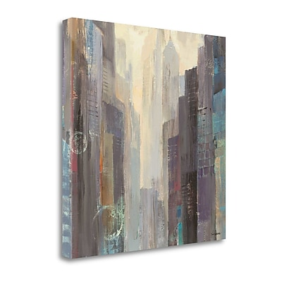 Tangletown Fine Art 'City at Dawn' by Albena Hristova Painting Print on Wrapped Canvas