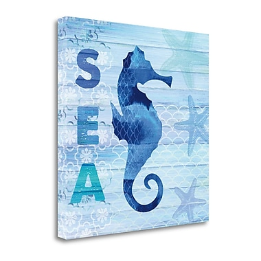 Tangletown Fine Art 'Sea Glass Seahorse' by Studio Bella Graphic Art on Wrapped Canvas