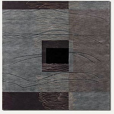 Williston Forge Fitchburg Hand-Knotted Gray Area Rug