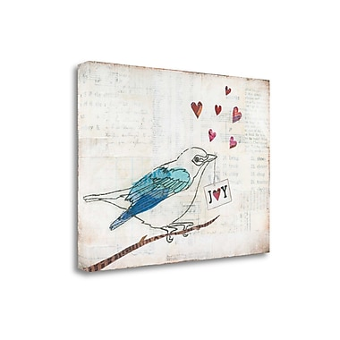 Tangletown Fine Art 'Love Birds I' by Courtney Prahl Graphic Art on Wrapped Canvas; 25'' H x 34'' W