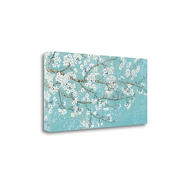 Tangletown Fine Art 'April Breeze I Teal' by Wiens James Painting Print on Wrapped Canvas