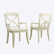 Panama Jack Millbrook X-Back Solid Wood Dining Chair (Set of 2); Buttermilk