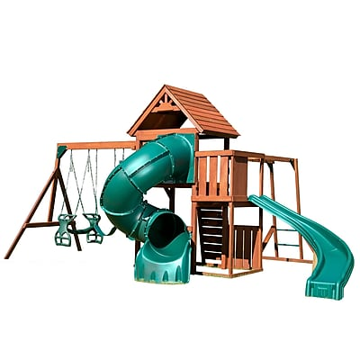 Swing-n-Slide Grandview Twist Complete Swing Set; Teal