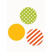 SimpleShapes Mixed Patterned Dots Wall Decal; Orange/Green/Yellow