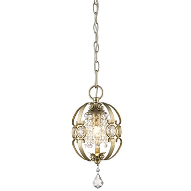 Willa Arlo Interiors Hardouin 1-Light Foyer Pendant; White Gold