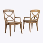 Panama Jack Millbrook X-Back Solid Wood Dining Chair (Set of 2); Sand