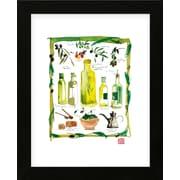 Red Barrel Studio 'Olives' Framed Graphic Art Print; Black