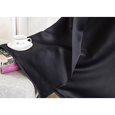 Winston Porter Sheri Solid Blackout Thermal Grommet Single Curtain Panel; Black