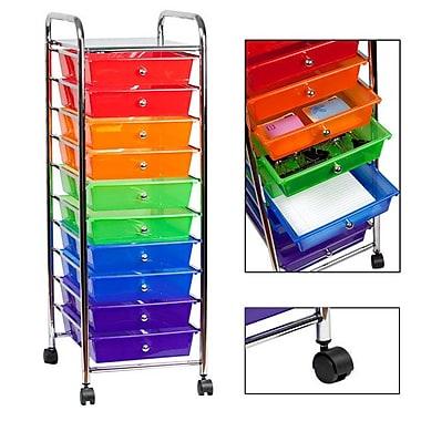 Sunbeam Rolling Cart 10 Drawer Storage Chest