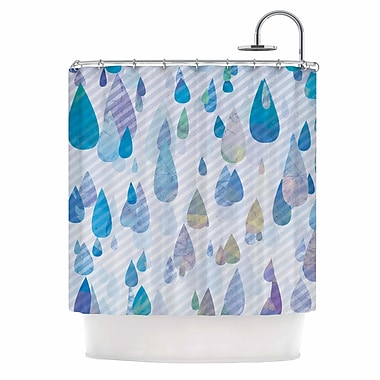 East Urban Home 'Rain Storm' Digital Shower Curtain