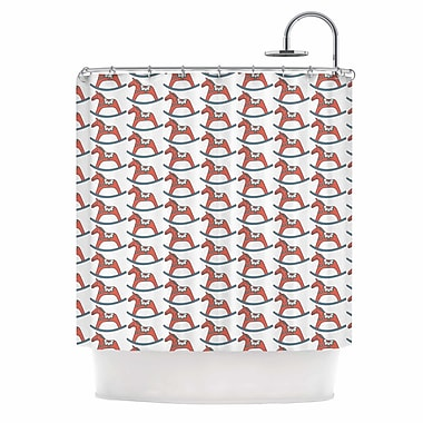 East Urban Home 'Dala Horse' Shower Curtain