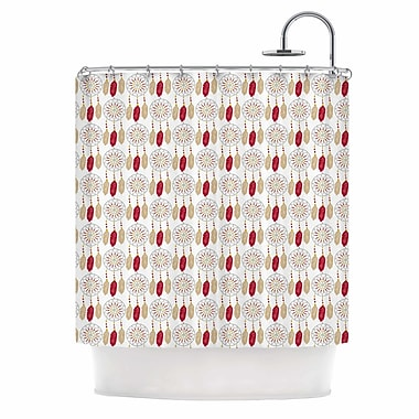 East Urban Home 'Dreams in Color Red' Shower Curtain