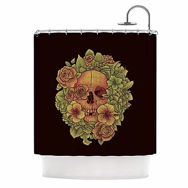East Urban Home 'Fragrant Dead' Illustration Shower Curtain