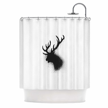 East Urban Home 'Dark Deer' Shower Curtain
