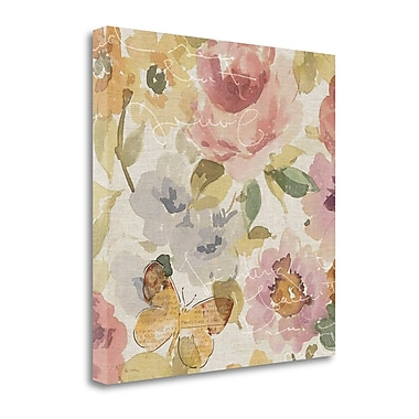 Tangletown Fine Art 'Romantic Poem II' by Pela Graphic Art on Wrapped Canvas; 20'' H x 20'' W