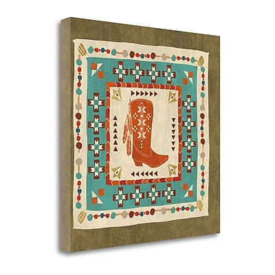 Tangletown Fine Art 'Southwest at Heart Tile III' by Veronique Charron Graphic Art on Wrapped Canvas
