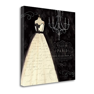 Tangletown Fine Art 'French Couture I' by Emily Adams Graphic Art on Wrapped Canvas; 21'' H x 21'' W