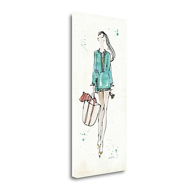 Tangletown Fine Art 'Beach Divas IV Color' by Anne Tavoletti Painting Print on Wrapped Canvas