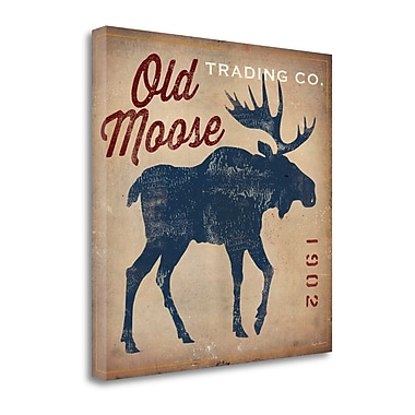 Tangletown Fine Art 'Old Moose Trading Co.Tan' by Ryan Fowler Graphic Art on Wrapped Canvas