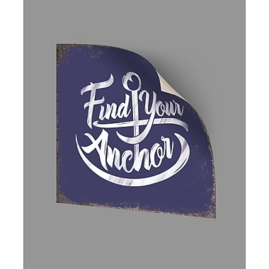 ArtWall Find Your Anchor Wall Decal; 24'' H x 24'' W x 0.1'' D