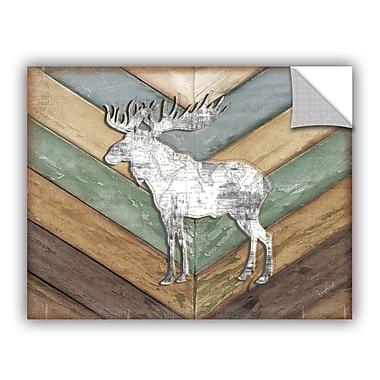 ArtWall Lodge Moose Wall Decal; 36'' H x 48'' W x 0.1'' D