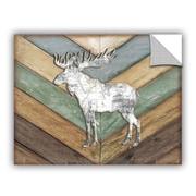 ArtWall Lodge Moose Wall Decal; 14'' H x 18'' W x 0.1'' D