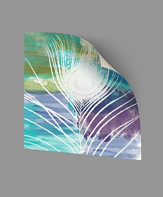 ArtWall Peacock I Wall Decal; 18'' H x 18'' W x 0.1'' D