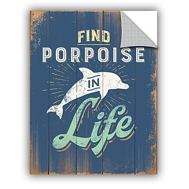 ArtWall Porpoise 2 Wall Decal; 24'' H x 18'' W x 0.1'' D