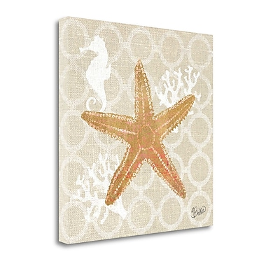 Tangletown Fine Art 'Beach Linen Starfish' by Studio Bella Graphic Art on Wrapped Canvas