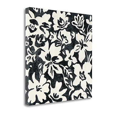 Tangletown Fine Art 'Chalkboard Floral I' by Silvia Vassileva Graphic Art on Wrapped Canvas
