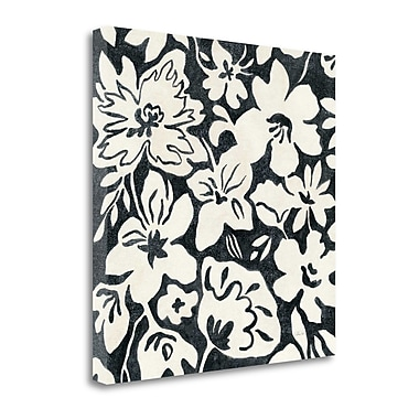 Tangletown Fine Art 'Chalkboard Floral II' by Silvia Vassileva Graphic Art on Wrapped Canvas