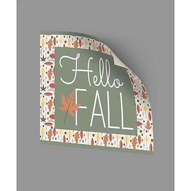 ArtWall Hello Fall II Wall Decal; 18'' H x 18'' W x 0.1'' D