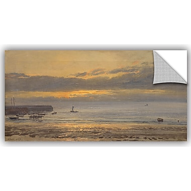 ArtWall Before Sunrise, Scarborough - Low Water Wall Decal; 12'' H x 24'' W x 0.1'' D