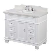 KBC Elizabeth 42'' Single Bathroom Vanity Set; White
